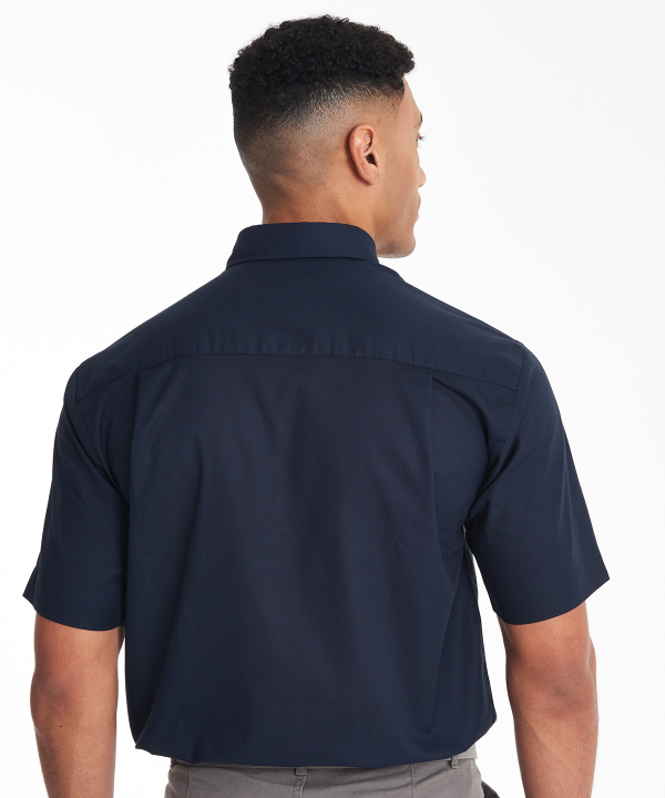 KK350 Mens Short Sleeve Oxford Shirt Back