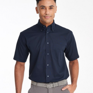 KK350 Mens Short Sleeve Oxford Shirt Front