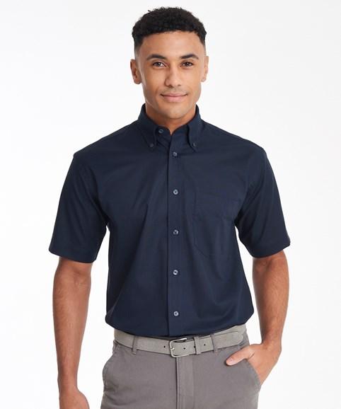 KK350 Mens Short Sleeve Oxford Shirt Front