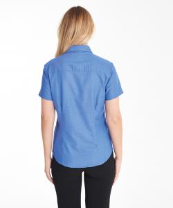 KK360 Oxford Short Sleeve Blouse Back