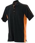 LV322 Sports Polo Black & Orange