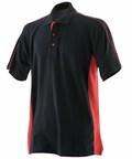 LV322 Sports Polo Black & Red