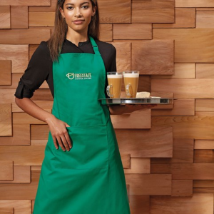 PR154 Apron with pocket Green